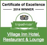 Trip Advisor Certificate of Excellence for the Village Inn of St. Ignace